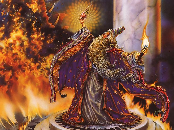 myles pinkney | Myles Pinkney - Calendrier 2002 - 07 - Dragon Master.jpg