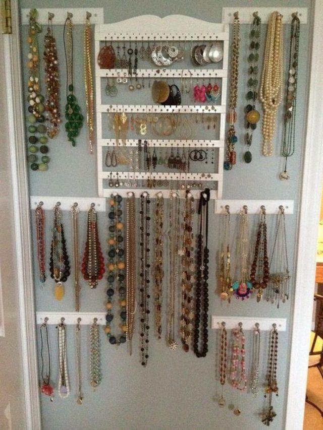 30 Creative The Most Fancy Hanger Ideas For Your Jewelry Storage Jewelry Organizer Wall Jewelry Wall Jewellery Storage