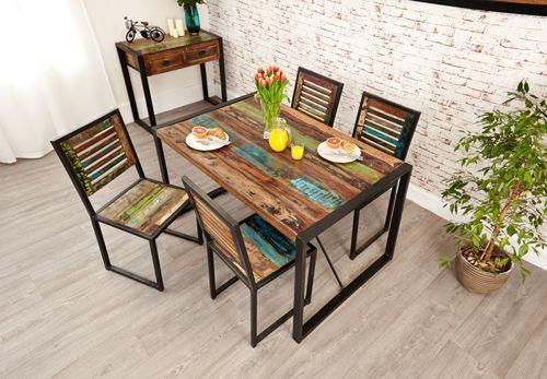 Urban Chic Dining Table Small #furniture #home #interior #decor #livingroom #lounge #bedroom #hallway #boho #bohemian #shabbychic #urban #contemporary #table #dining #breakfast #food