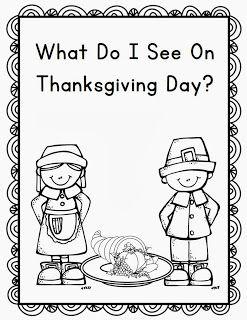 Thanksgiving Emergent Reader Kindergarten