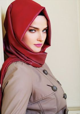 gorgeous red #hijab #hijabi #style #fashion