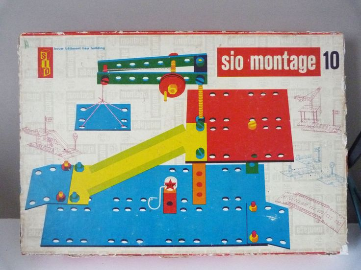 Vintage Sio Montage wooden  construction toy by planetutopia on Etsy