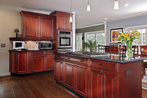 What Paint Colors Look Best With Cherry Cabinets Kitchen Color Cherry Cabinets Kitchen Paint Colors With Cherry Cherry Wood Kitchens