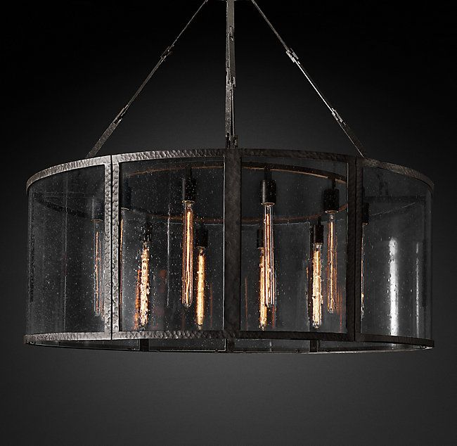 Lumet Round Chandelier 48 Round Chandelier Chandelier Seeded Glass