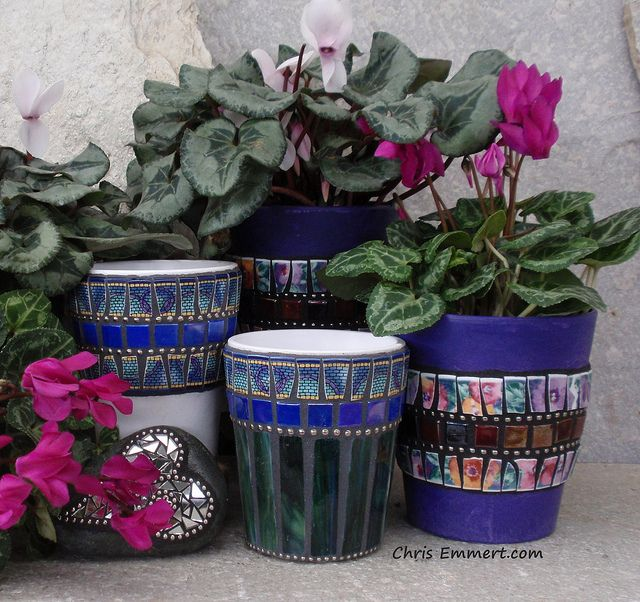 Mosaic Pots, via Flickr. - Chris Emmert