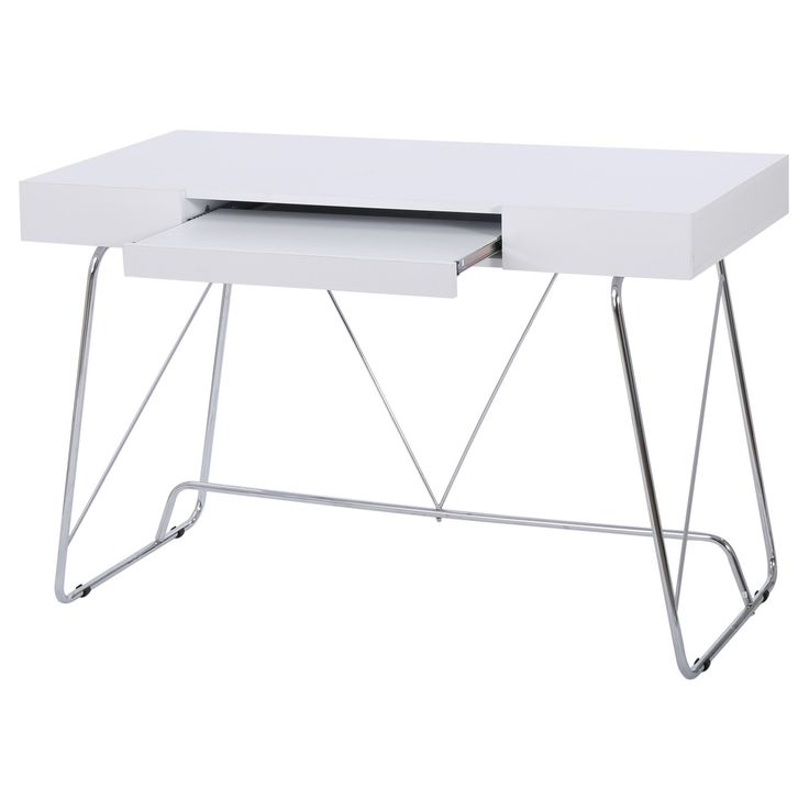 Heinrik Wood Computer Desk with Keyboard Tray - White, Christopher Knight Home