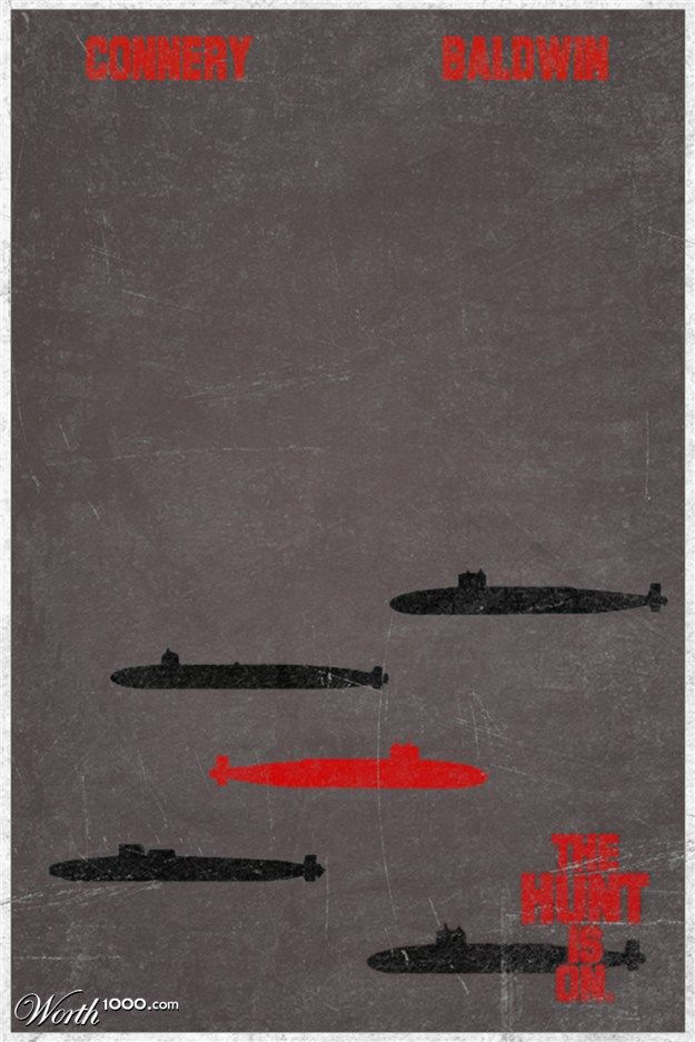 minimalistic movie posters:   the hunt for red october: Minimalist Movie Posters, Picture-Black Posters, The Hunting, Cinematic Movie, The Hunt For Red October, Movie Magic, 3 Movie