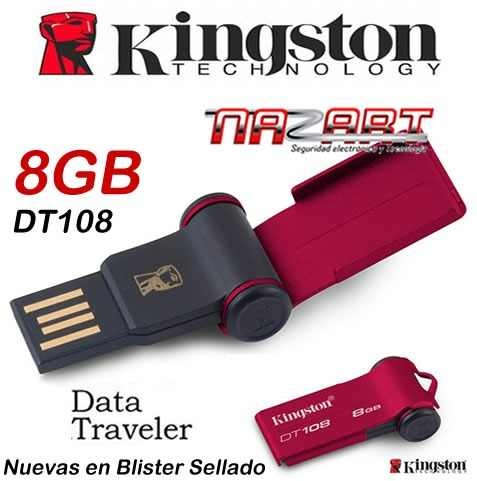 Memoria Usb 8gb Kingston Dt108 Roja Original   Mdr12 Nazart - $ 14.999