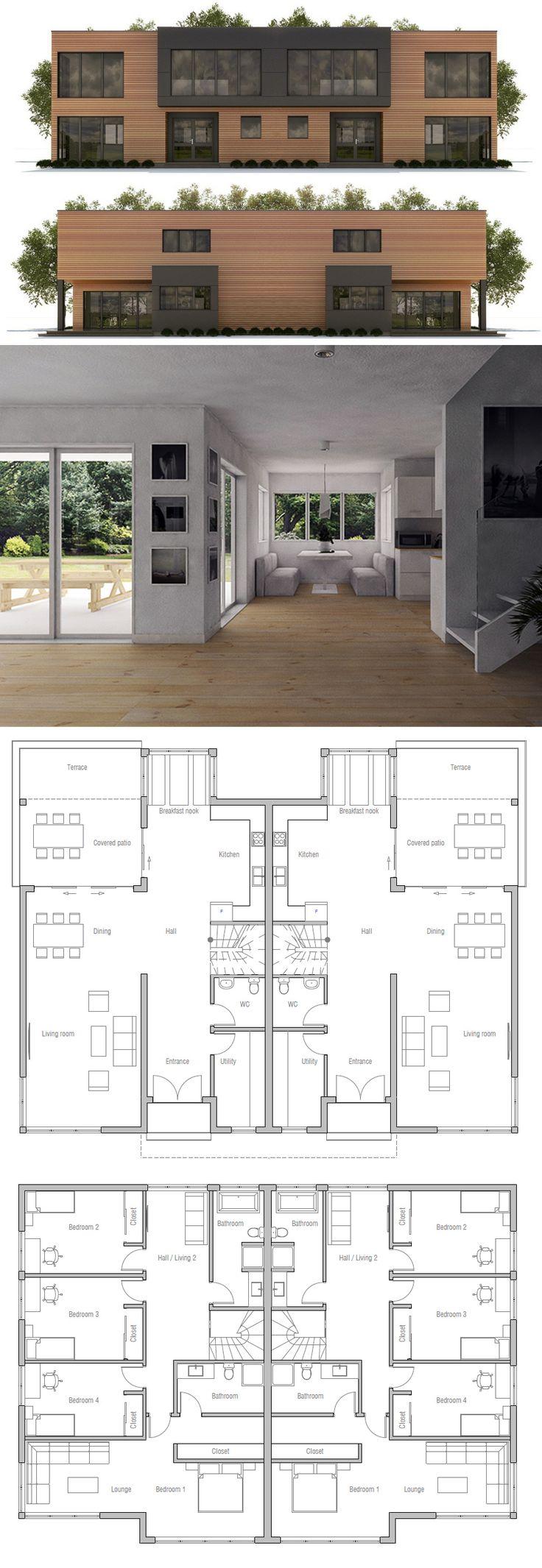 Best 25 Duplex house plans ideas on Pinterest