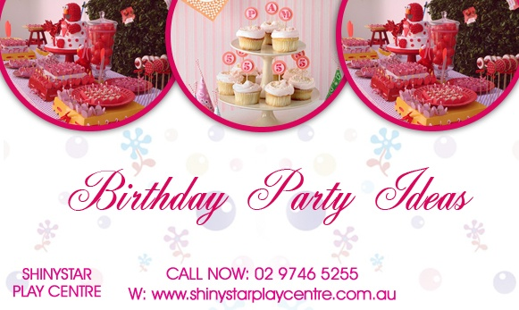 Birthday party ideas are very necessary for celebrating party with full enjoyment and you can get many birthday ideas about your kids from here so visit our webiste: http://www.shinystarplaycentre.com.au/children-birthday-party.html