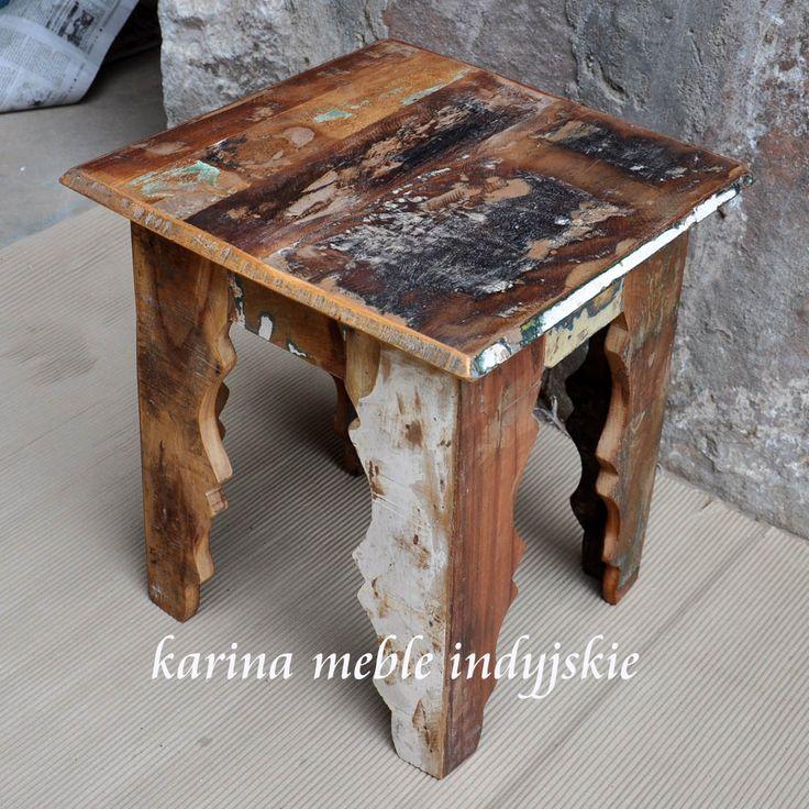 meble loftowe - recykling - stolik z recyklingu
