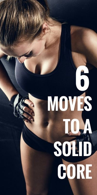 """fitnessforevertips: """"6 Crunch-less Moves To Transform Your Core A lot of women still think that crunches and sit-ups are how you build a strong core, but you shouldn't believe in either and should..."""