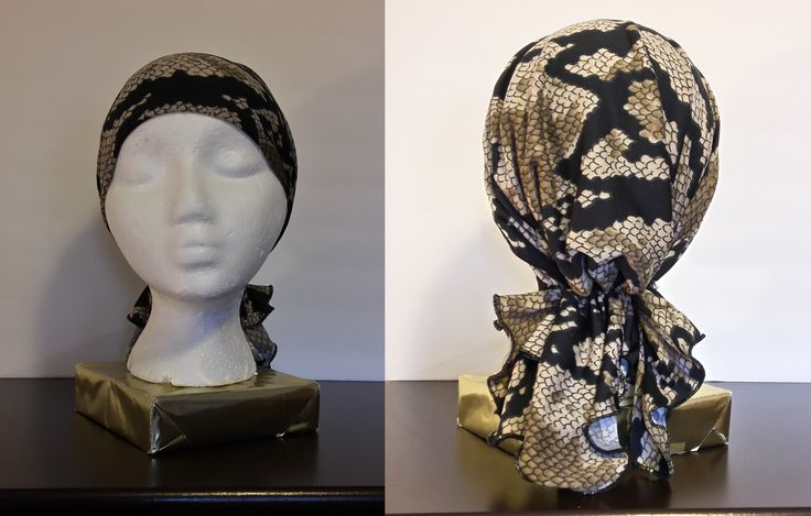 Trendy Lightweight Casual Snake Skin Print Headwear  HANDMADE  For the person who likes to be trendy but not elegant. This short handmade headwear is made of a lightweight polyester spandex. It has the comfort you want as well as the stylish look with the snake skin print. One size.