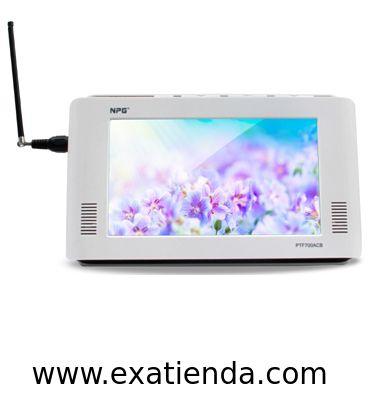 """Ya disponible Televisor NPG 7"""" ptf700acb tdt   (por sólo 68.89 € IVA incluído):   - Televisor de pantalla panorámica de 7"""" con la que podrás ver tus programas favoritos en cualquier lugar. Además reproduce tu música, películas y fotografías. - Elegante diseño y reducidas dimensiones  - Pantalla panorámica: TFT/ LCD de 7""""(16:9) - Resolución: 480X234 - Sintonizador: TDT integrado - Radio Digital: (DVB-T) - Sistema de TV: PAL/NTSC-16/9 o 4/3 - Guía de programas El"""