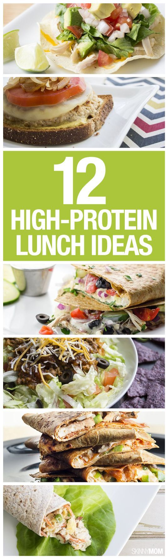 Eating a lot of protein at lunch will keep you full and focused all afternoon. Try out one of these protein-packed recipes!