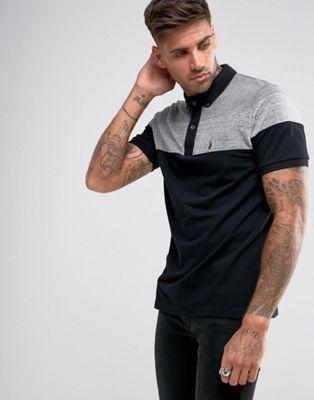 Luke Sport Mickey Velvet Polo Shirt in Black