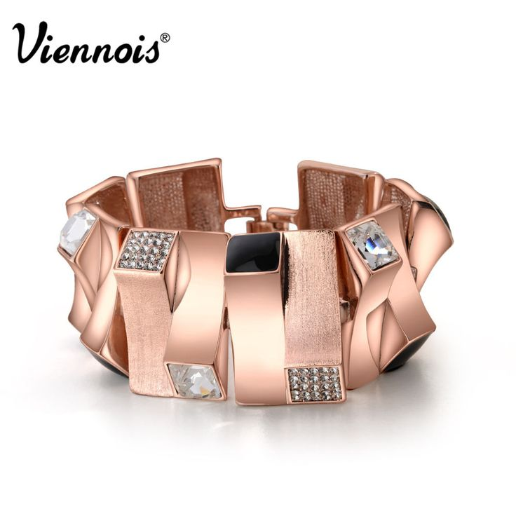 Купить Браслеты на запястье Viennois розовое золото, геометрический, для женщин, со стразами, браслеты, ювелиное изделиеи другие товары категории Браслетыв магазине Viennoisjewelry(offical)наAliExpress. часы браслет и браслет оранжевый