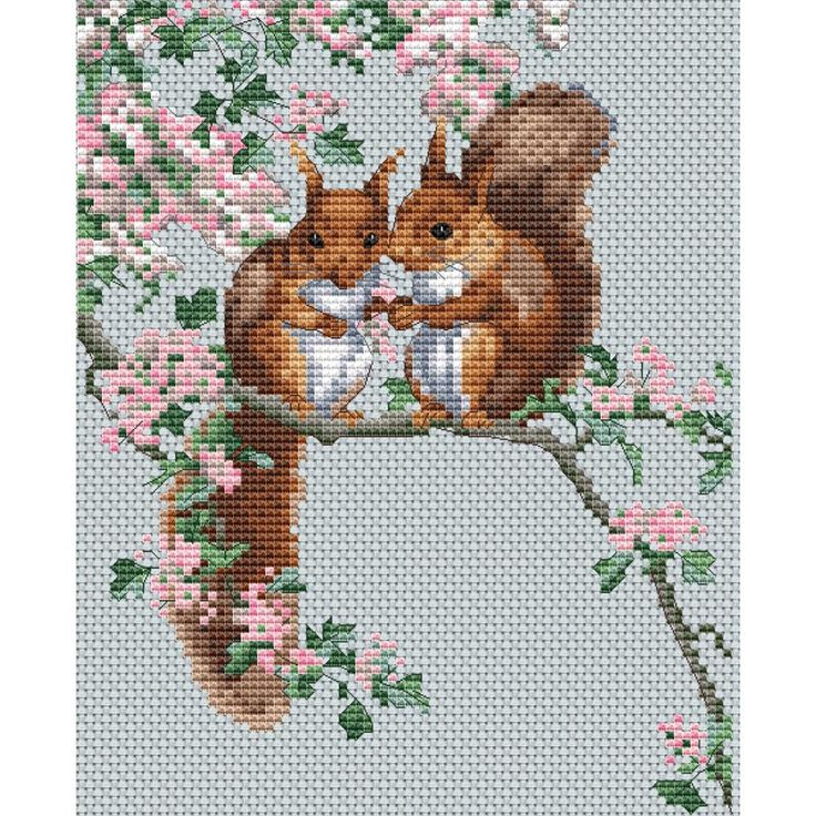 """The Natural World Squirrel's Secrets Counted Cross Stitch Ki-5.7""""X7"""" 14 Count"""