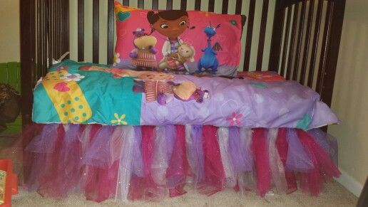 I <3 the tutu around the bed soooo doing this for Janae