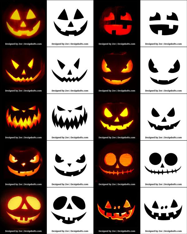 290+ Free Printable Halloween Pumpkin Carving Stencils