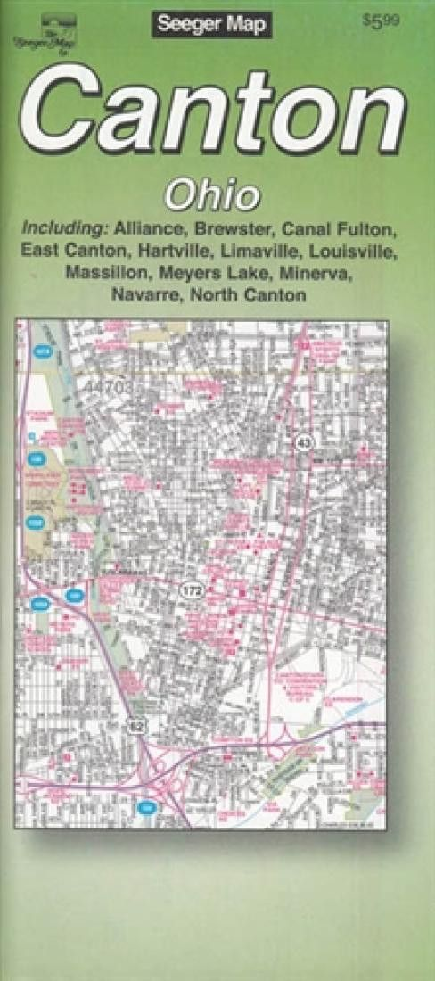 Canton, Ohio by The Seeger Map Company Inc.