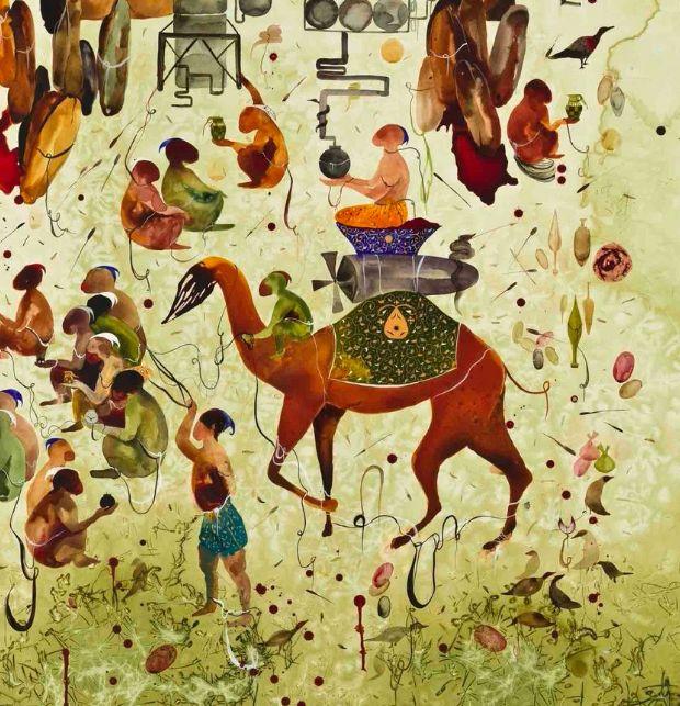 SHIVA AHMADI, Lotus (detail), 2013