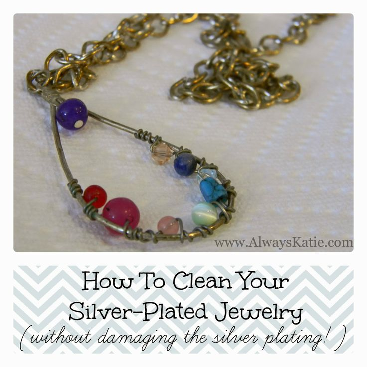 how to clean your silver plated jewelry without damaging