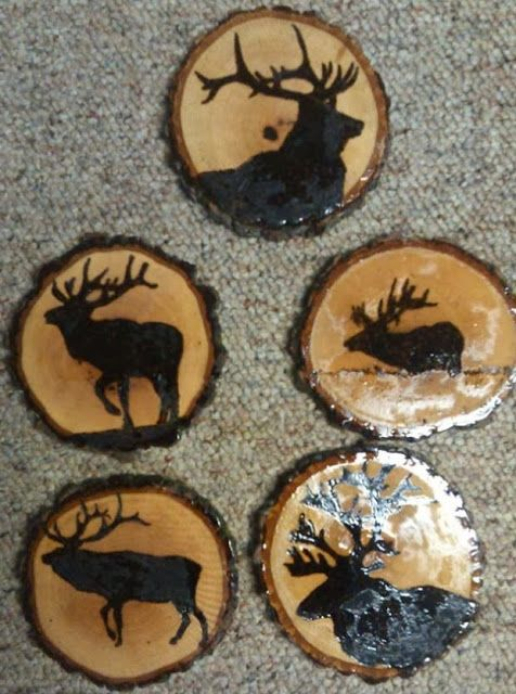 Wood Burned Wood Slices