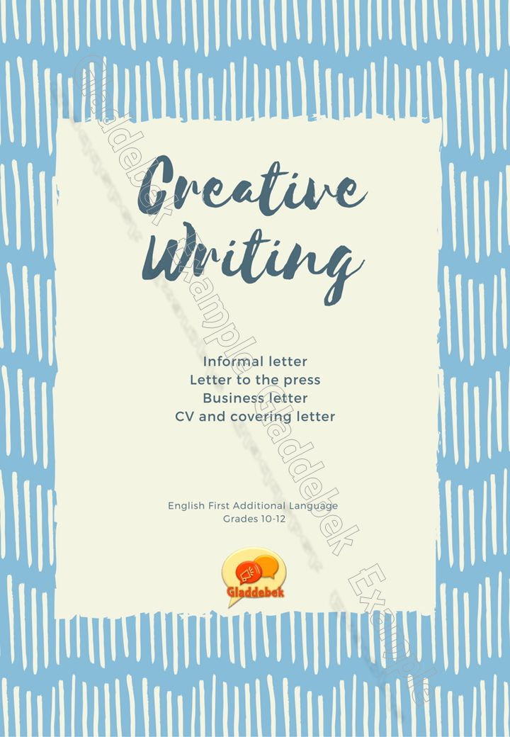 Transactional texts: Letters and CV English First Additional Language grades 10-12 Examples, tips and activities