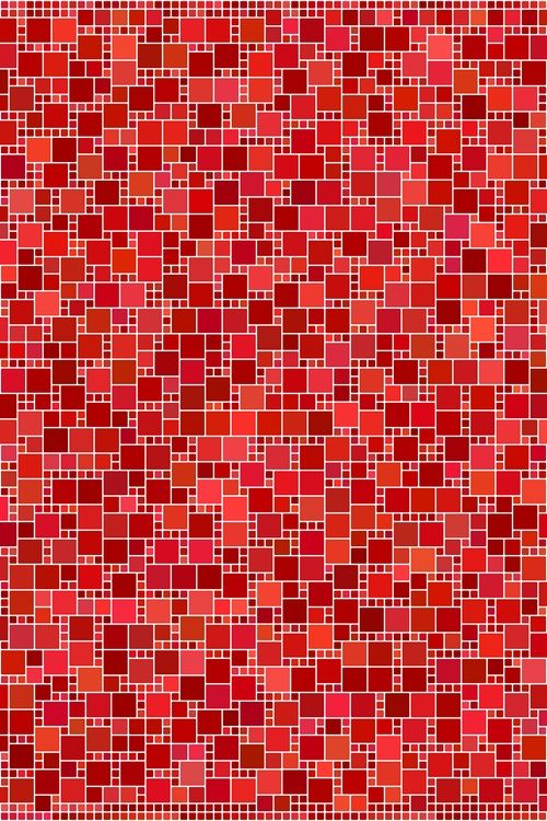 Red square mosaic pattern background