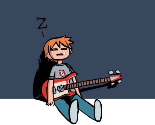current state after work and i should be practicing big bag of nope - Scott Pilgrim Books In Color