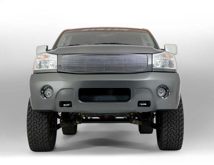 Stillen 2005 Nissan Titan front bumper cover with integrated lights.
