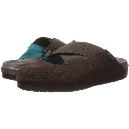 $55.00 Crocs Crocs Edie Mule (Mahogany/Mahogany) Women's Clog Shoes