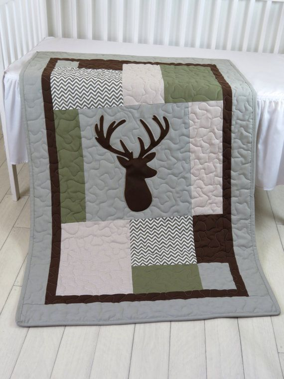 Deer Crib Bedding Deer Crib Quilt Deer by Customquiltsbyeva