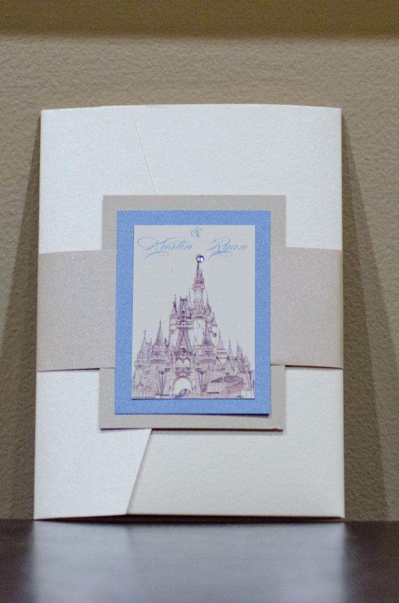 Cinderella wedding invitation Disney wedding fairytale wedding