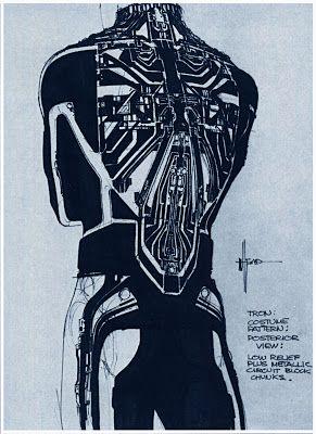 "Legendary artist Syd Mead's pre-production concept art for the original ""Tron."""