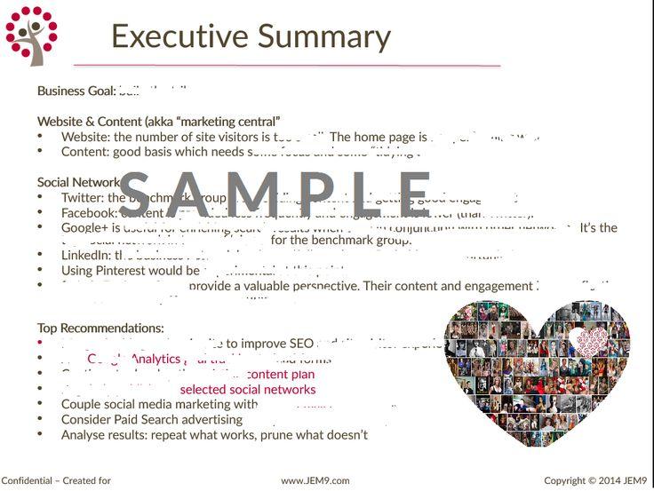 Executive Summary Example Social Media  Cerca Con Google  Social