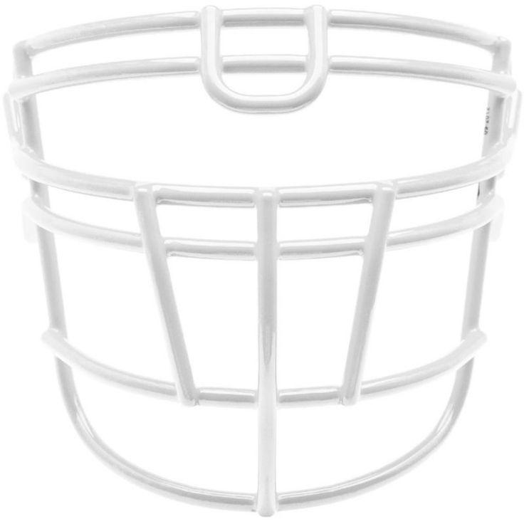 Schutt Varsity Super-Pro Rjop-UB-DW Titanium Football Facemask, White