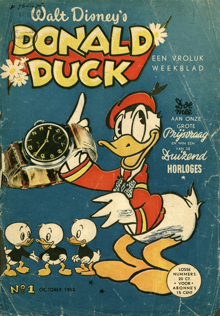 **Donald Duck, nr:1, oktober 1952.