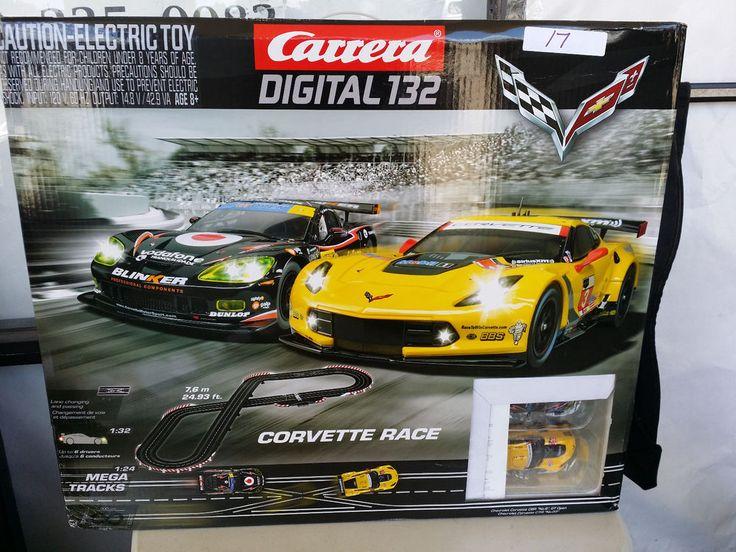carrera corvette race digital 132 scale slot car race set track kids new