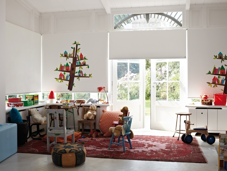Great blinds for the kid's playroom! @Luxaflex Nederland