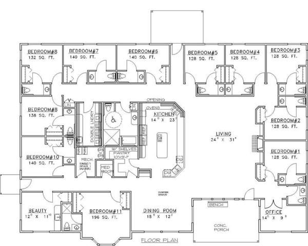 Floor Plan Country House Plans Ranch House Plans House