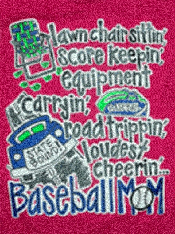 Baseball Mom Tshirt.. Lawn Chair Sittin' Acore by MonogramsbyKimB, $17.99