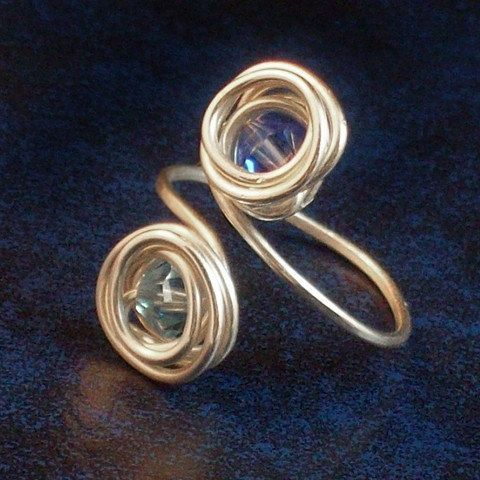 Best Wire Rings Images On Pinterest Wire Rings Wire Wrapped - Cute diy wire rings for middle phalanges
