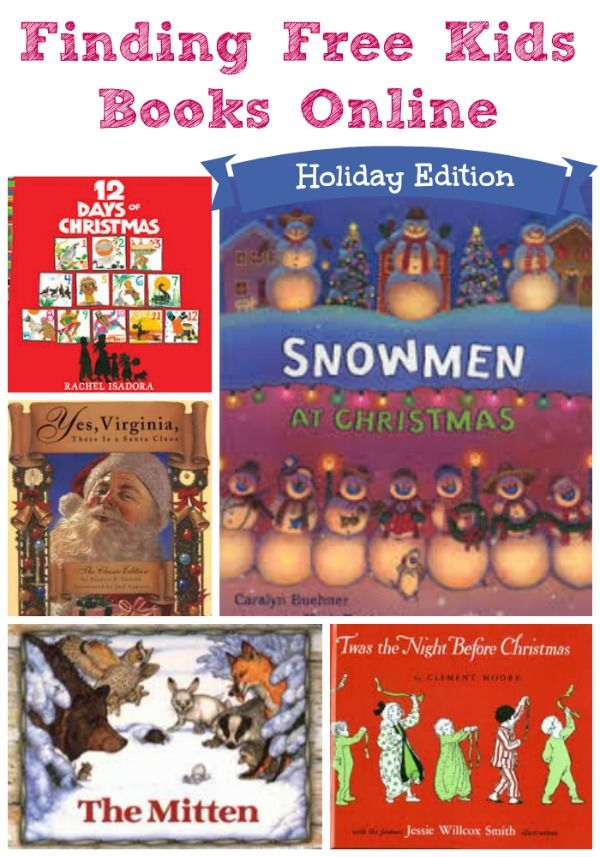 Wonderful list of *free* holiday e-books and audio books for kids!