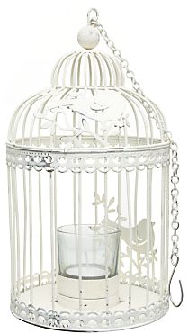 Unbranded Bird Cage Tealight Holder, Cream on shopstyle.co.uk