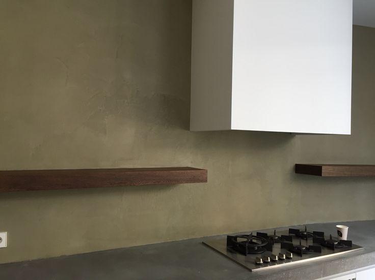 Achterwand bewerkt met Mortex door Luxury walls Haarlem