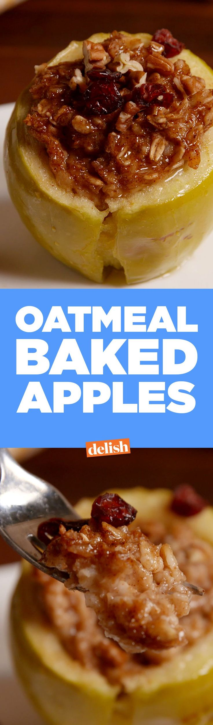These Oatmeal Baked Apples are the healthy breakfast you've always been looking for. Get the recipe from Delish.com.