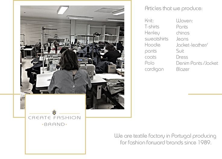 We are a manufactures for high-quality clothing production.