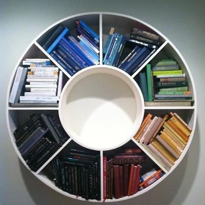 Poodles And Doodles: U201c Timeline (A Light History Of The Earth) By Katie  Holten At Storm King This Piece Is A Color Wheel Book Shelf Featuring A  Bunch Of ...